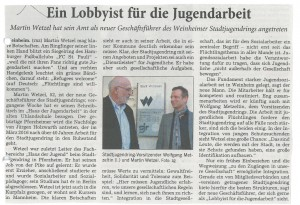 Der Stadtjugendring heißt den neuen Geschäftsführer, Martin Wetzel, herzlich willkommen!